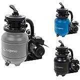 Miganeo Speed Clean 7000 Sandfilter mit Zeitschaltuhr für Pool bis 22m³ selbstsaugend (Silber)