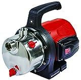Einhell GC-GP 1250 N Gartenpumpe, 1200 W, max. 5.000 Liter pro Stunde, selbstansaugende und leistungsstarke Jet-Pumpe, INOX-Edelstahl-Pumpengehäuse
