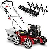 (NEU) HECHT 2-IN-1 Benzin Vertikutierer/Lüfter für optimale Rasenpflege – 2,5 kW / 3,4 PS – 40 cm Arbeitsbreite – 45 l Fangkorb – mit 2 Walzen für effektives entfernen von Moos und Unkraut im Rasen*