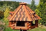 Deko-Shop-Hannusch XXL massives Vogelhaus 70 x 45 cm, Vogelfutterhaus, Vogelhäuser + absolut. Blickfang + imprägniert*