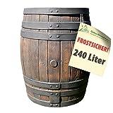 REGENTONNE EICHENFASS SET 240l Liter, das REGENFASS mit fühlbarer Holzstruktur, in sehr schönem HOLZ-DESIGN, mit Maserung wie ein HOLZFASS, dauerhaftdicht und splitterfrei!*