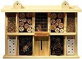 Insektenhotel Bausatz Landsitz Superior mit 10 Zimmern für Wildbienen, 47 x 12,5 x 34 cm, Kiefer, 22640e*