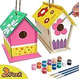 xinxintai basteln Bauen Kinder vogelhaus bausatz Kinderhandwerk Holz Kunsthandwerk für Kinder DIY Vogelhaus-Kit für Kinder zum Bauen und Malen von verstärktem Design