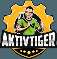 Logo Aktivtiger auf Gartenfibel.com (gelb) in 200