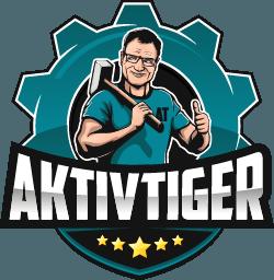 Logo Aktivtiger auf Gartenfibel.com (blau)